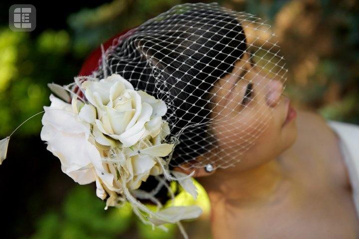 Custom Bridal Rose Blusher  I <3 this girl!