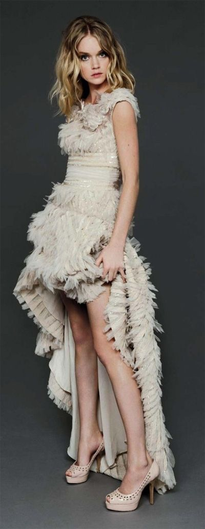 Love the #ruffles on this #gown