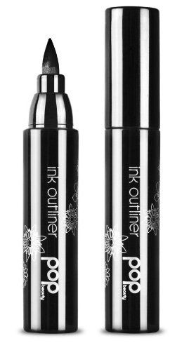 POP Beauty Ink Outliner, Inked. This bold marker pen provides faultless application, creating a tattoo like frame for the eyes. Blackest black pigment stains the root of the lashes. Water resistant formula creates an inked on clean cut line that makes peepers pop.