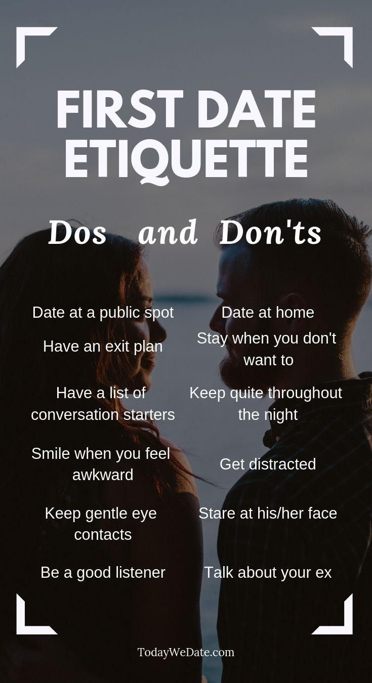 First date dos and don'ts, the etiquettes to know before