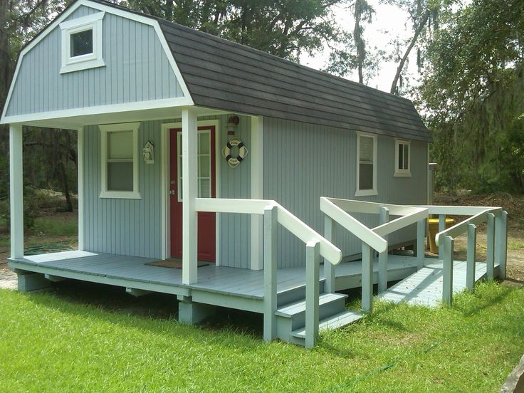 Prefab Tool Shed Converted To Vacation Cabin Cargo Containercontainer Homesoutdoor Shedstiny