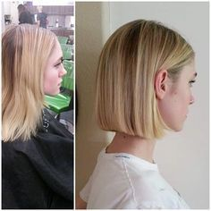 cute short blunt bob cut for fine hair