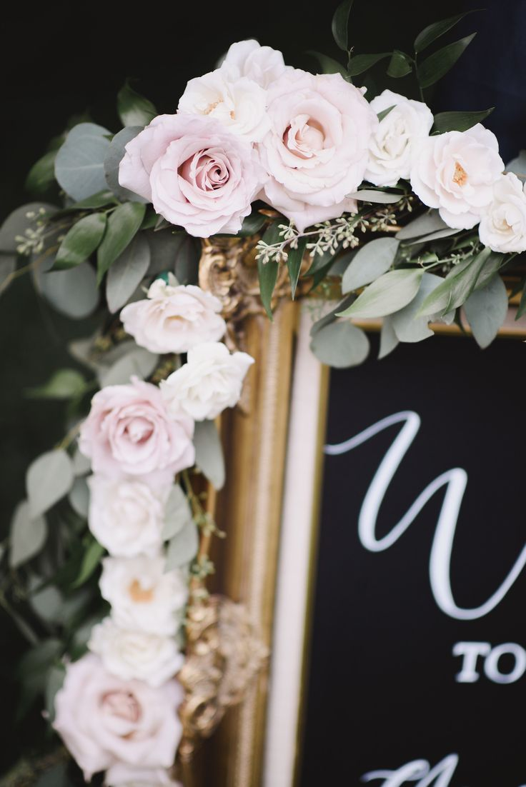 Stunning floral garland ona handlettered welcome sign.  Garland and sign by West Coast Heart Designs {Erin Wallis Photography} #RedwoodsWeddings #summerwedding #magical  #dreams #goals #weddingreception  #receptiondecor #weddingdecor  #wedding #outdoorwedding #weddingceremony   #britishcolumbia  #weddingflowers  #ido #outdoorwedding #weddingdecorations  #summerwedding  #reception #weddingdecor #weddingstyle