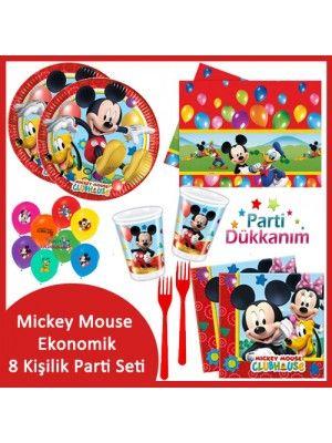 Mickey Mouse Ekonomik Parti Seti (8 Kişilik)