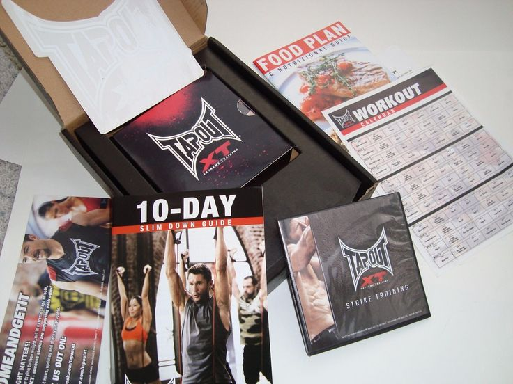 NEW TAPOUT XT 15 DVDs BONUS PACK NEW IN BOX GET IN YOUR BEST SHAPE FAST