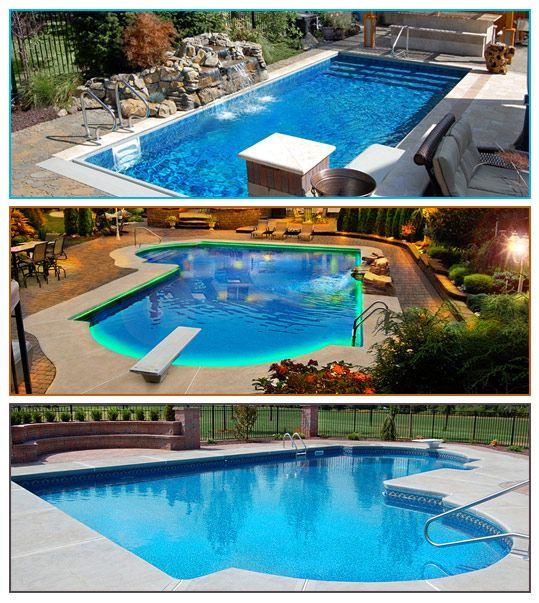 11 best images about vinyl liner pools on pinterest for Swimming pools for sale installed