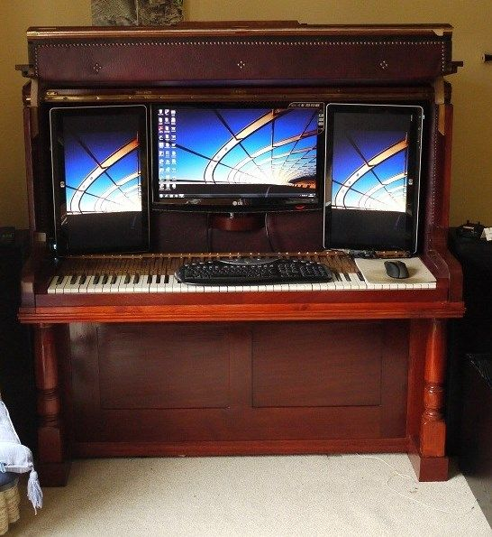how to connect old piano with computer