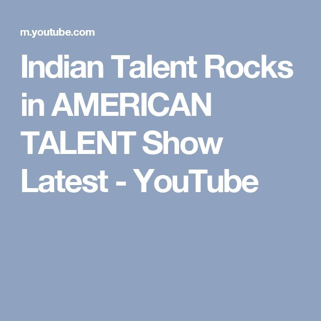 Indian Talent Rocks in AMERICAN TALENT Show Latest - YouTube
