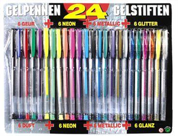 24 Gelpennen