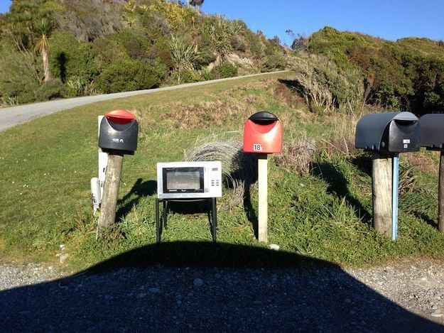 Our mailboxes are creative and unique.   29 Pictures That Prove New Zealand Is The Greatest Country On Earth