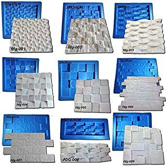 Amazon Com Digital Art Rio 27 Plastic With Rubber Sheets Molds For Plaster 3d Walls Industrial Scientific 3d Wall Cement Crafts 3d Wall Panels