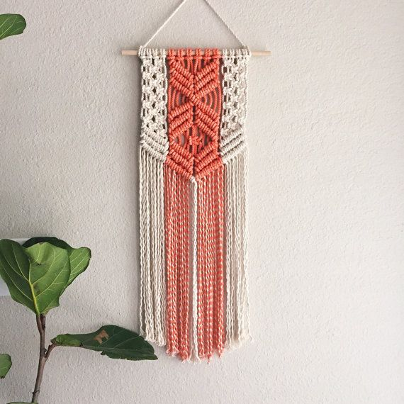 Macrame Patterns/Macrame Pattern/ Macrame Wall Hanging Pattern/Wall Hanging/Modern Macrame/Pattern/DIY/Title: Coral Natural Pattern