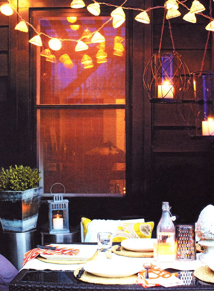 Patio Lights. Chatelaine Summer Living | Photo: Roberto Caruso