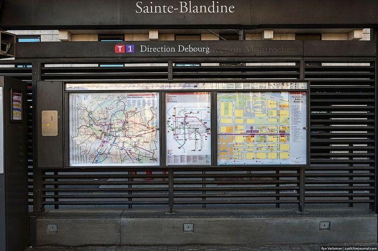 Detailed schemes at tram stop, Lyon   Flickr - Photo Sharing!
