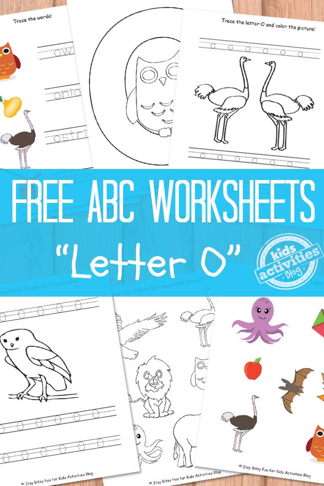 Free printable letter O worksheets plus the rest of the alphabet at Kids Activities Blog.