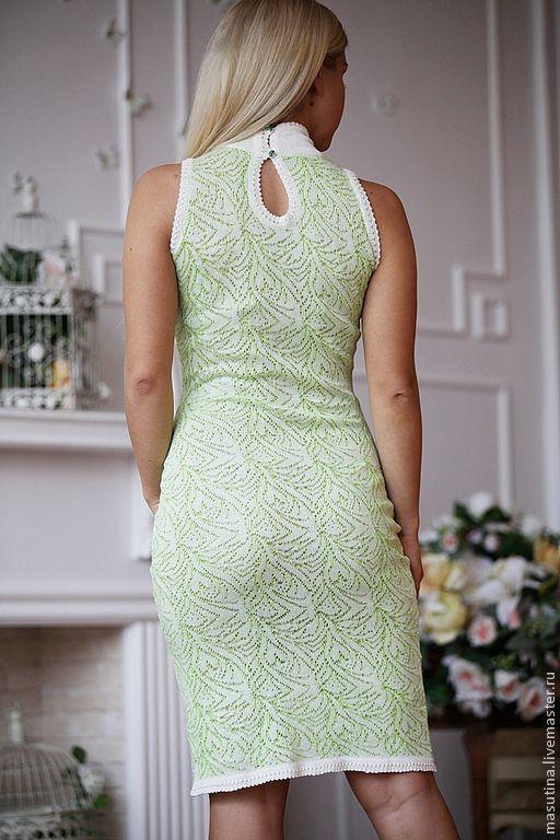 """Купить Платье """"Мохито"""" - мятный, ажурное платье, летнее платье, платье, зеленое платье"""