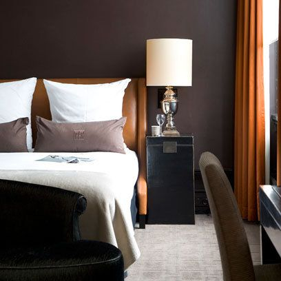 Nice warm colours - a great scheme for a guy's room, or a winter makeover.