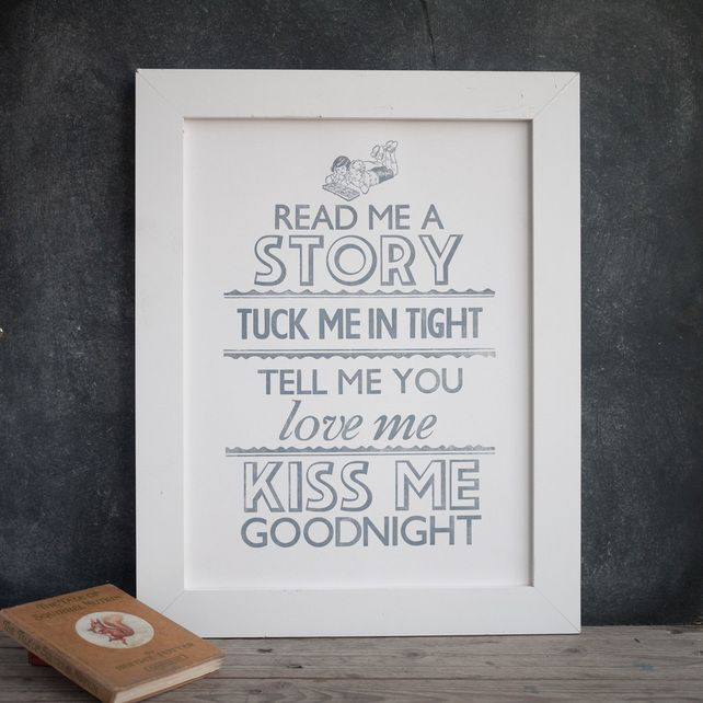 Tell Me A Story letterpress print £18.00 by Print for Love of Wood