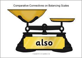 Comparative connectives on balancing scales (SB9925) - SparkleBox