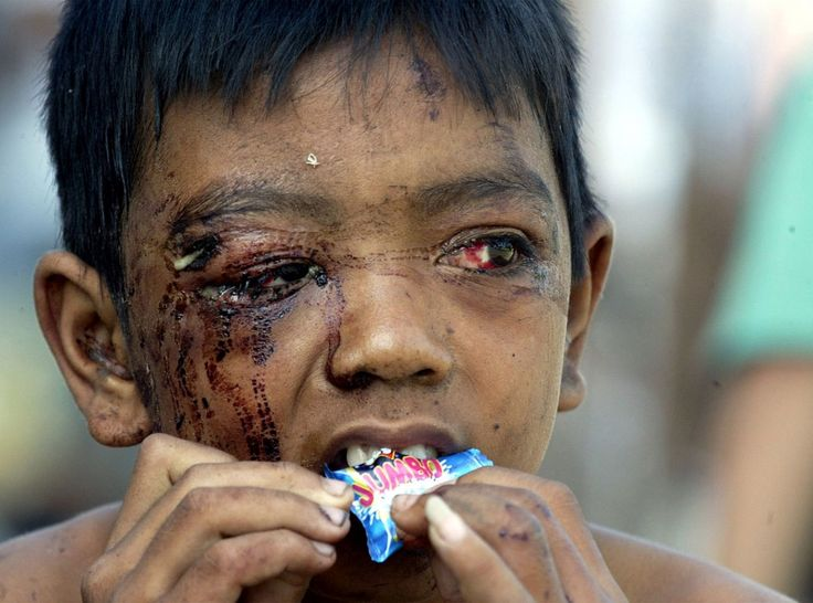 A child in BANDA ACEH who survived the BOXING DAY TSUNAMI on 12.24.2004!