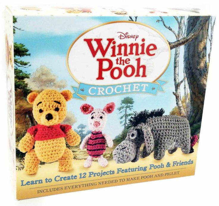 Crochet Kit: Amigurumi Patterns Disney Winnie the Pooh Characters https://babytoboomer.com/2015/08/23/crochet-kits-frozen-princesses/?utm_campaign=coschedule&utm_source=pinterest&utm_medium=Baby%20to%20Boomer%20Lifestyle&utm_content=Crochet%20Kits%3A%20FROZEN%20and%20Princesses%20Amigurumi%20Patterns #crochet #pattern
