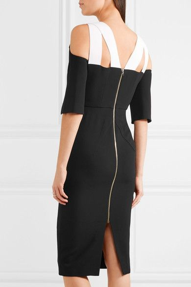Roland Mouret - Keeling Cutout Crepe Dress - Black - UK