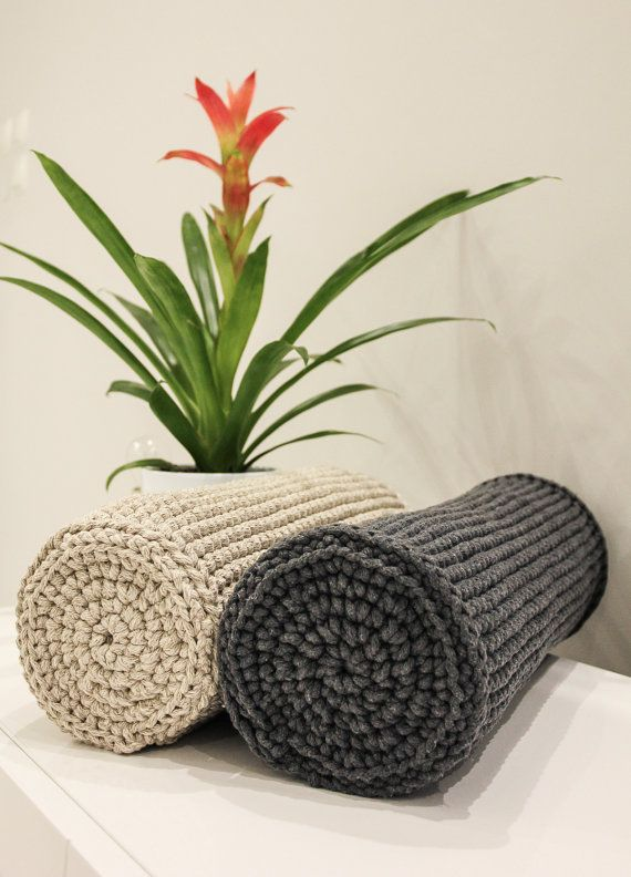 Beautiful knitted bolster pillow