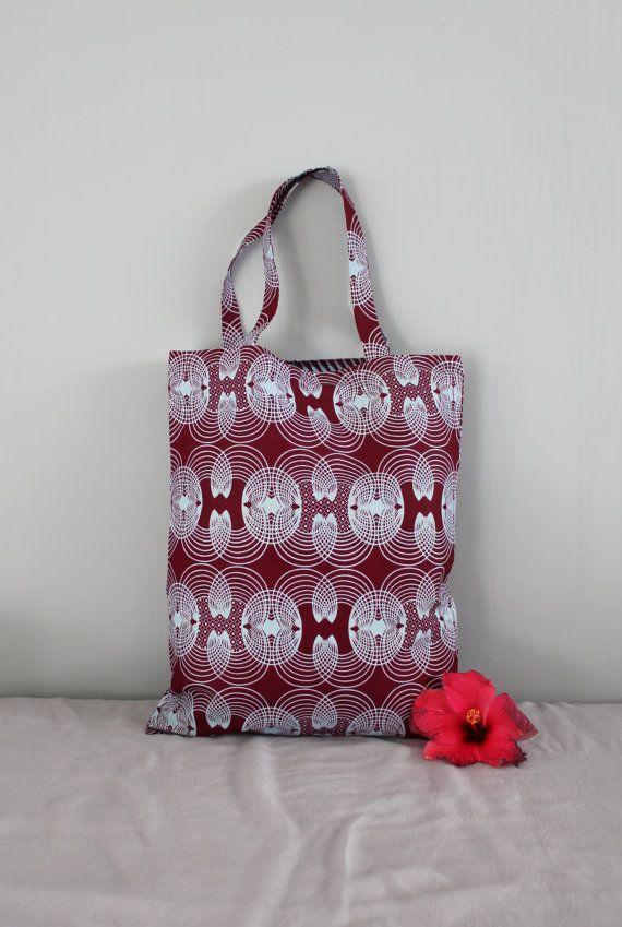 Tote bag/sac en tissu pagne wax  KOANI par Underthecocotiers
