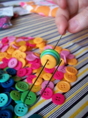 how to make button bouquet