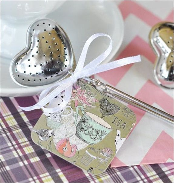 Complete your tea party bridal shower or birthday with our heart shaped infusers complete with a coordinating gift tag. An adorable favor to thank your guests. Fabulous Features: - Sold in sets of 12