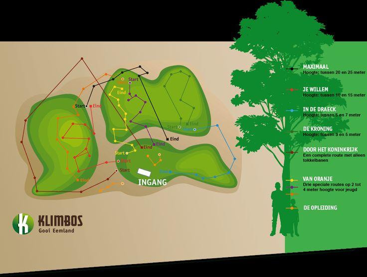Klimbos Gooi Eemland in Lage Vuursche (Baarn), een majestueus klimbos met 7 verschillende klimavonturen en 85 verschillende overgangen. Bekijk het aanbod!