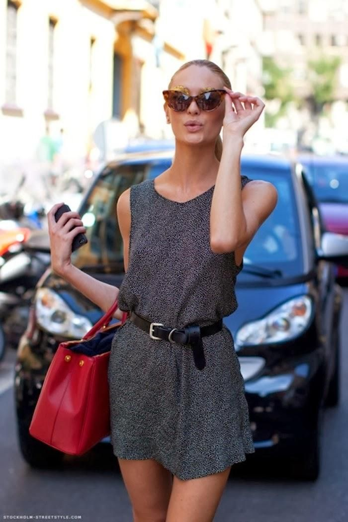 #Candice Swanepoel street style | Style Inspiration | Notice the gold eyebrows under the glasses