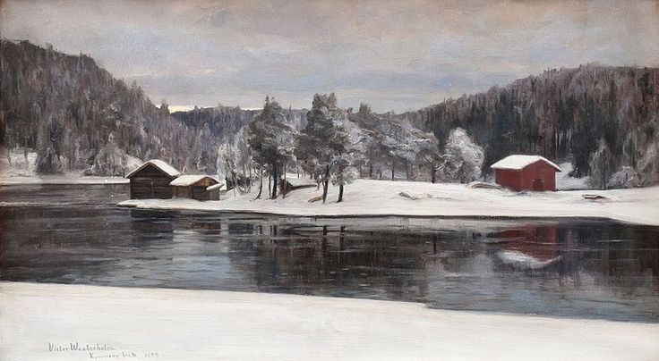 Winter Landscape from Kymintehdas, 1899, Victor Westerholm (1860-1919)