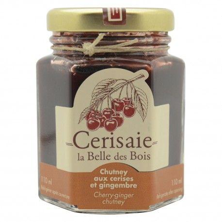 Un produit de la Cerisaie La Belle des Bois (Neuville).  Un mélange aigre-doux d'inspiration indienne aux cerises et aux gingembres.   #FGDN #FGDN2016 #quebec #neuville #terroir #produitsduterroir #cerises #cherry #gingembre #ginger #chutney