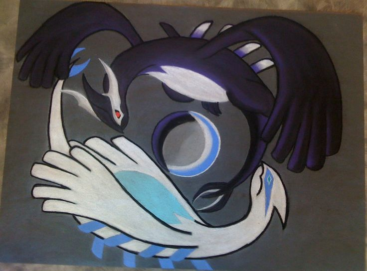 Yin and Yang - Lugia and Shadow Lugia by Raven-Shinda on deviantART