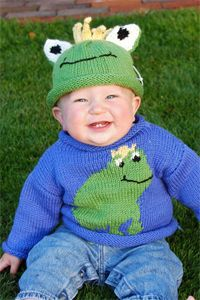 Knitmeasweater : Frog Sweater/Hat free # knitting pattern link here...