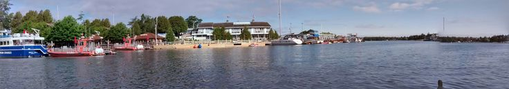 Little Tug harbor. Canadian Coast Guard boat and others. Tobermory Ontario Canada. Taken from my kayak.