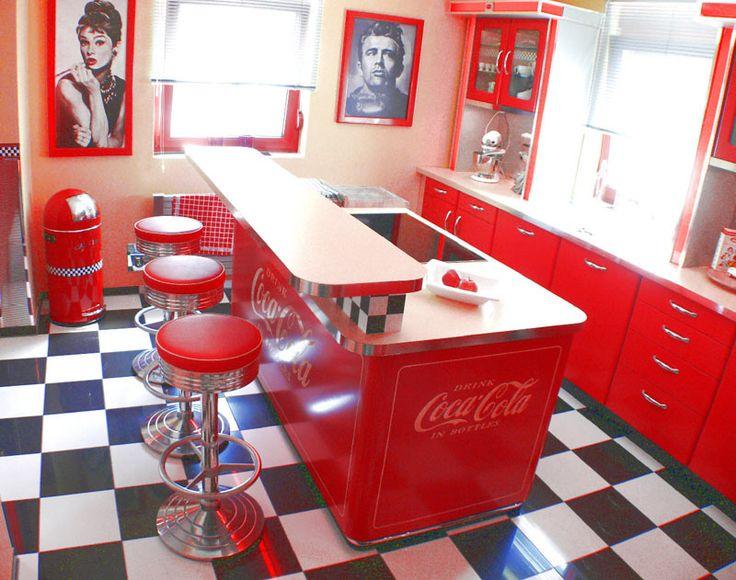 Amerikanische Theken & Bars im american Style der 50er Jahre