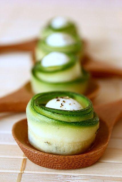 Roselline di zucchina e cuore di mozzarella | MIEL & RICOTTA