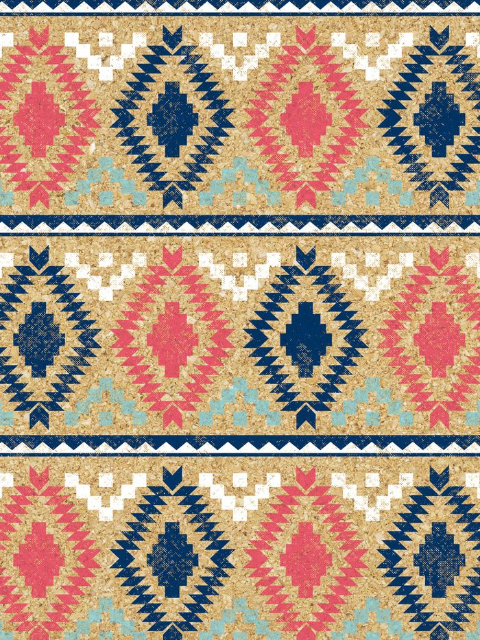 Fun tribal pattern wallpaper