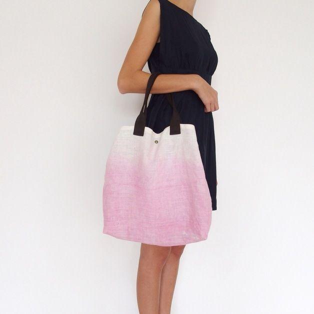 Weiteres - Leinen Tragetasche in Batik Muster Shopper - ein Designerstück von MiKaNu bei DaWanda