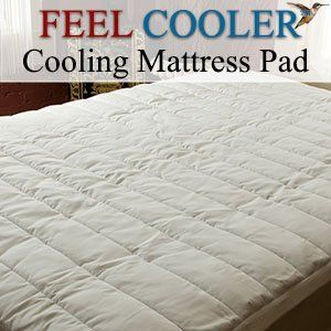 Cooling Mattress Pad Queen Feel Cooler® Mattress Pad - 20 Day's Return Guarantee. by Feel Cooler®, http://www.amazon.com/dp/B004X2D2LA/ref=cm_sw_r_pi_dp_mRsSqb0W957TP