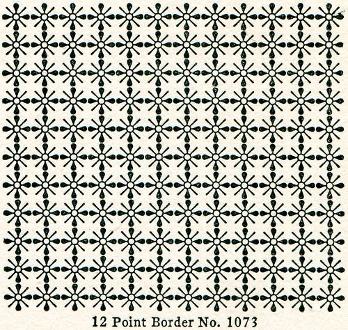 """""""Use of Diaper Patterns for the Decoration of Flat Surfaces"""" specifically for use with Caslon. from The Manual of Linotype Typography (̶..."""