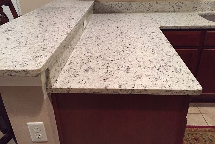 Best Branco Dallas Granite Countertops In Kitchen With High Bar 640 x 480