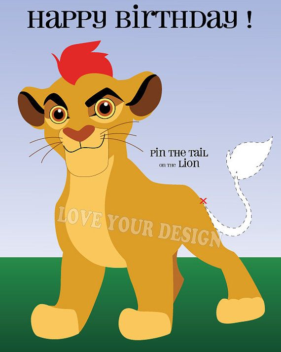 Lion King Lion Guard Kion Pin the Tail on the by LoveYourDesign