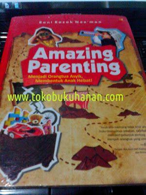 Buku ini ditulis oleh praktisi pendidikan anak yaitu Rani Razak Noe'man. Buku yang berisi bagaimana membentuk amazing parenting.   Menjadi orang tua adalah jembatan generasi. Mau seperti apa generasi yang dihasilkan untuk nasib kehidupan mendatang tergantung bagaimana orang tua membentuknya.   Harga : 39.000 Belum diskon 10%  Pemesanan via SMS/WA : 081 556 467 598. pin BB : 7D12DC1C  more info : tokobukuhanan.com