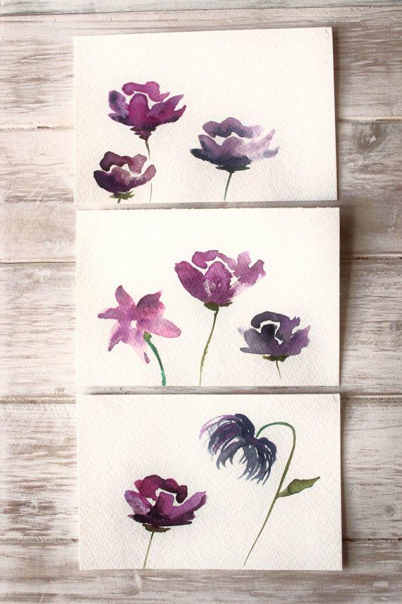 Original Art Cards, Watercolor Postcards // hand painted original greeting card