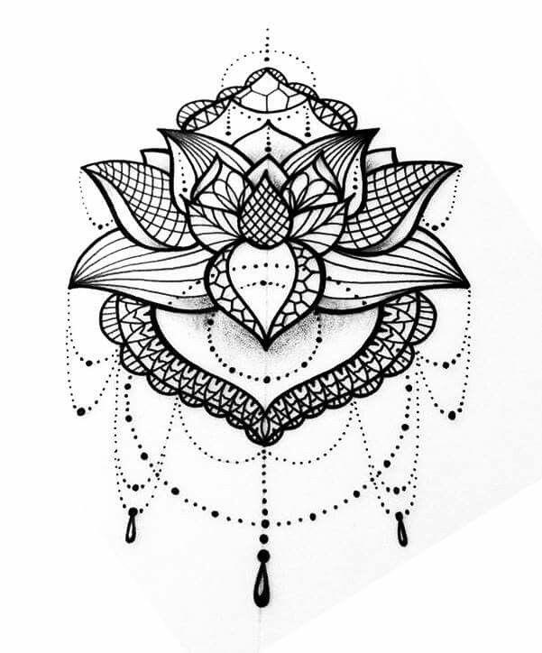 Resultado de imagen para lotus flower mandala