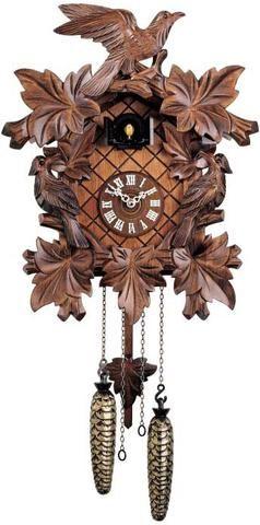 "Hones 16"" Quartz Carved 352Q Cuckoo Clock"