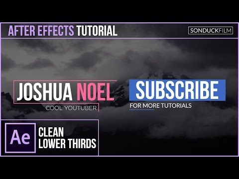 after effects lower thirds
